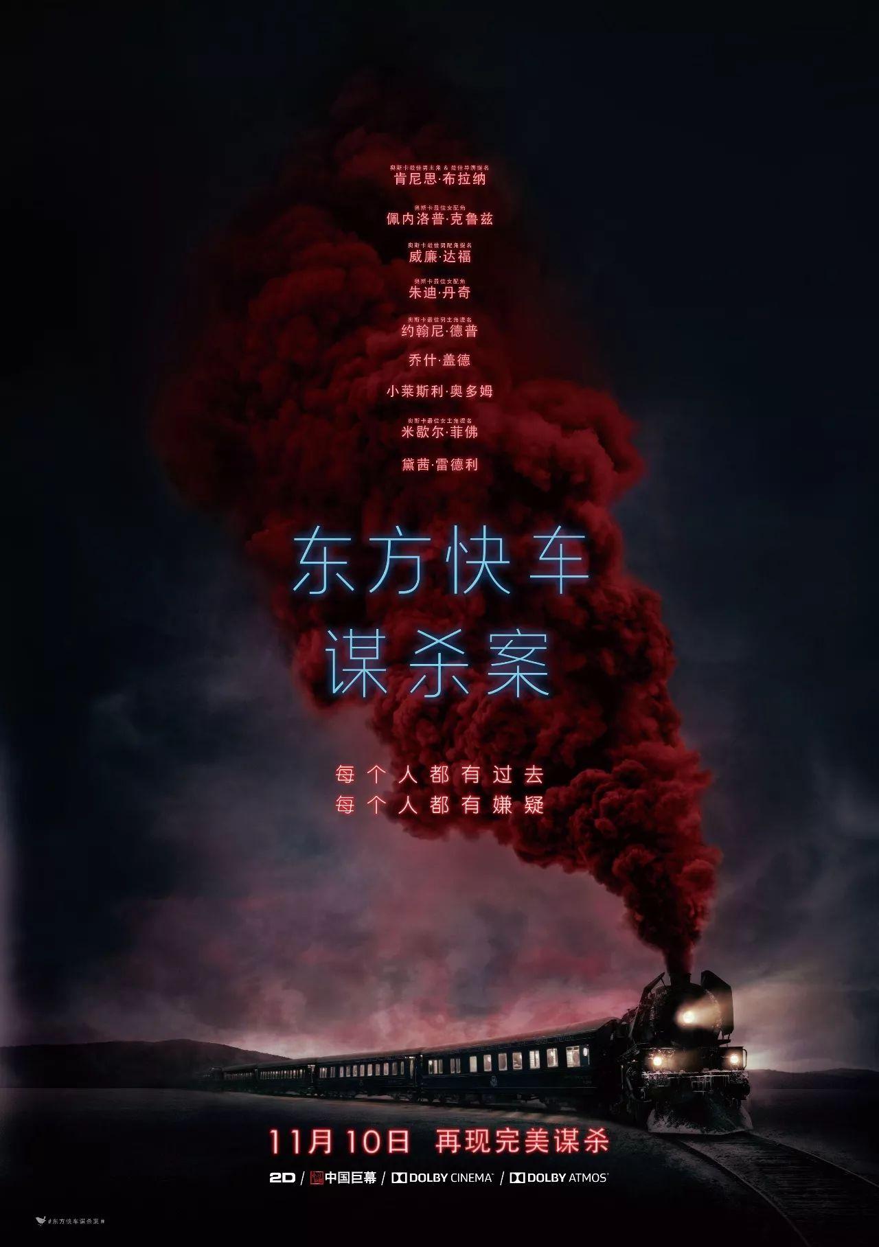 东方快车谋杀案-有生之年能在影院看一场史上最完美的谋杀,满足!